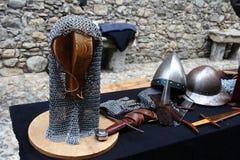 中古在Erba中世纪市场-区上Villincino星期天, 2018年5月13日 免版税库存图片