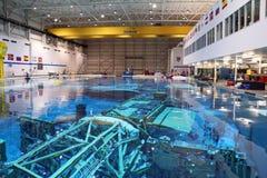 中和浮力实验室-约翰逊航天中心 免版税库存照片