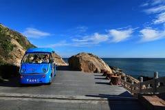 中国三亚海边旅游业 免版税库存照片