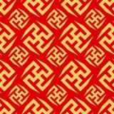 中国东方无缝的装饰Bakcground 库存照片