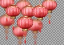 中国丝绸灯笼 库存例证
