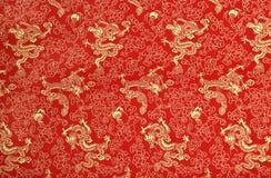 中国丝绸纹理 免版税库存照片