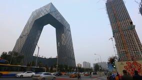 中国中央电视台CCTV在北京 影视素材