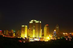 中国乌鲁木齐在晚上 免版税库存图片