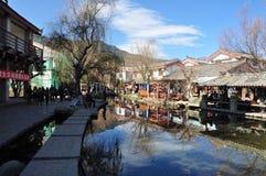 中国云南古镇在Shuhe 库存图片