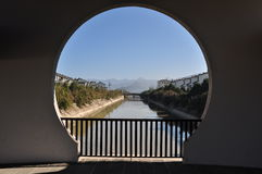 中国云南腾冲穹顶老镇建筑摄影 免版税库存照片