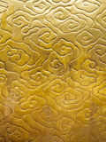 中国云彩样式金子颜色纹理 库存图片