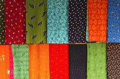 中国五颜六色的丝绸 库存图片