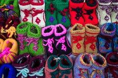中国五颜六色的童鞋 库存照片