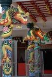 中国五颜六色的龙 免版税库存照片