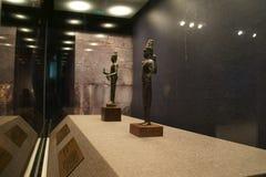 中国亚洲,北京、首都博物馆、柬埔寨吴哥遗物和画展 免版税库存照片