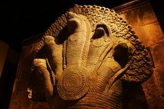 中国亚洲,北京、首都博物馆、柬埔寨吴哥遗物和画展 免版税库存图片