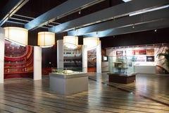 中国亚洲,北京,中国国家大剧院,展览室,陈列 免版税库存照片
