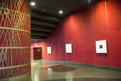 中国亚洲,北京,中国国家大剧院,现代建筑学,内部 免版税库存图片