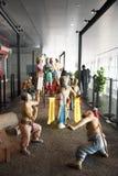 中国亚洲,北京,首都博物馆,雕塑,老北京伙计风俗 免版税图库摄影