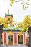 中国亭子在卓宁霍姆宫在一个晴朗的夏日 免版税库存图片