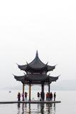 中国亭子在杭州 图库摄影