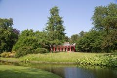 中国亭子在腓特烈斯贝公园,丹麦 免版税库存图片