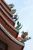 中国亭子屋顶 免版税图库摄影
