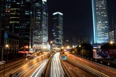 中国人上海陆家嘴夜 免版税库存照片