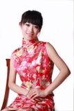 中国人传统礼服的女孩 图库摄影