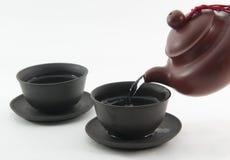 中国人作为您茶的时间 库存照片