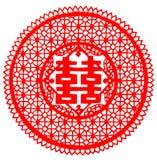 中国人剪切纸张 免版税库存照片