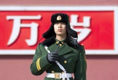 中国人卫兵 库存照片