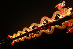 2013中国人在西安这龙的灯会 免版税库存照片