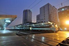中国人培训通过火车站 库存图片