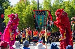 中国人复活节庆祝在本迪戈,澳大利亚 免版税库存图片