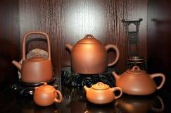 中国人宜兴茶壶 库存图片