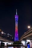 中国人广州新的电视塔、绰号或者我们的腰围 图库摄影