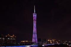中国人广州新的电视塔、绰号或者我们的腰围 库存照片