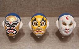 中国人戏曲面具 图库摄影