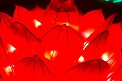 中国人灯节新年新年莲花灯笼 免版税库存图片