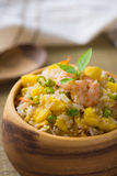 中国人炒饭或者nasi goreng普遍的cusine在亚洲 免版税库存图片