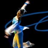 中国人现代舞蹈的女孩 免版税图库摄影
