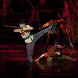 中国人现代舞蹈的戏曲 库存照片