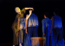 中国人现代舞蹈的drame 免版税库存照片