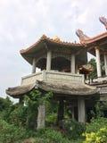 中国人的寺庙离开了 免版税库存照片