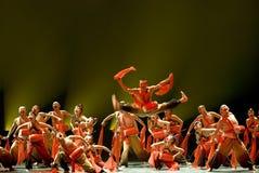 中国人舞蹈伙计组 免版税图库摄影