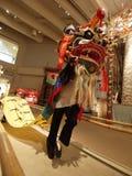 中国人舞蹈狮子 免版税库存照片
