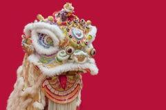 中国人舞蹈狮子 库存图片
