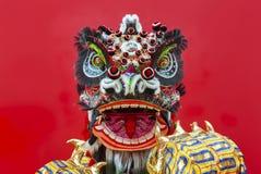 中国人舞蹈狮子 库存照片