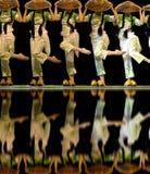 中国人舞蹈组 免版税图库摄影