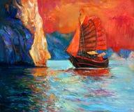 中国人船 图库摄影