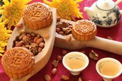 中国人著名食物mooncakes 免版税图库摄影