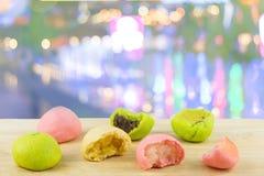 中国人蛋糕、月饼、泰国蛋糕或者中国酥皮点心 免版税库存照片