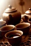 中国人集合茶壶 免版税库存图片
